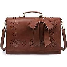 d6b4b696b254f ECOSUSI Vintage Damen Schultasche Arbeitstasche Aktentasche Laptoptasche 14