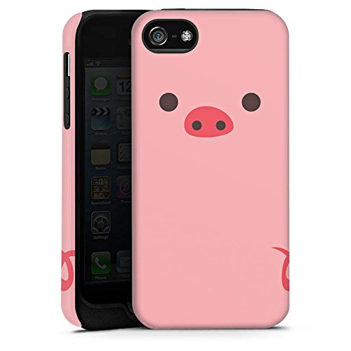 Apple iPhone X Silikon Hülle Case Schutzhülle Schwein Pig Comic Style Tough Case matt
