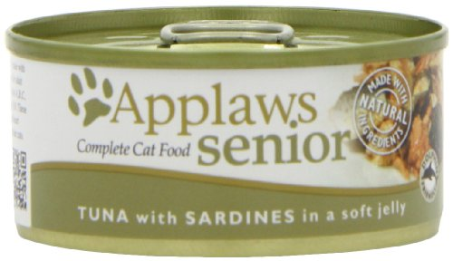 Applaws Senior Cat Tuna with Sardine in Jelly, Dose, 1er Pack (1 x 1.68 kg)