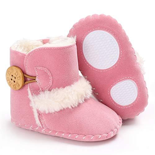Winter warme Stiefel, Jungen Mädchen Mode Winter Booties Infant Kleinkind Neugeborenen Warme Schneeschuhe Schuhe (12cm 6~12Monat, Rosa)