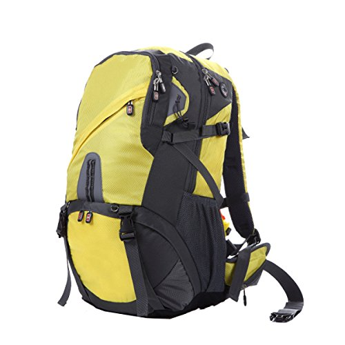 Yy.f Ultra-robust Leicht Reisetaschen Bergsteigen Taschen Wandern Tagesrucksack Ultra-light Outdoor-Reisen Camping Rucksack Reiten. Multicolor Black