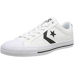 Converse Star Player OX, Zapatillas Unisex Adulto, Blanco (White/Black/White 102), 38 EU