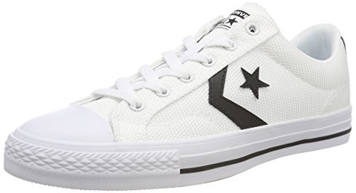 Converse Unisex-Erwachsene Star Player OX Black/White Sneaker Weiß 102, 42.5 EU