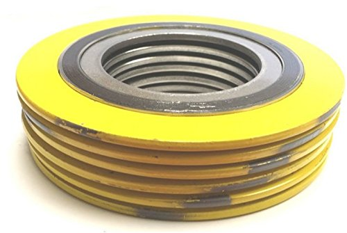 "Petrokamb Seals & Supply, Spiral Wound Gasket with 304SS Inner Ring, 1"" Pipe Size x 300# Class Flange x 304SS/Flexible Graphite (Pack of 6)"