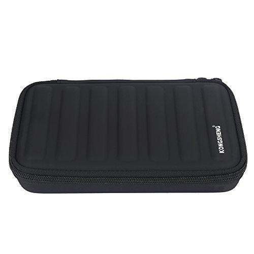 Harmonikas Aufbewahrungskoffer Schutztasche für 7 Stück Mundharmobikas (Mundharmonika-tragetasche)