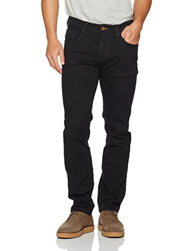 camel active Herren Straight Jeans Schwarz (FOREVER BLACK 9)