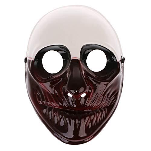 Hergon Halloween Horror Funny Devil Full Face Maske für Maskerade Kostüm Cosplay Party Hallween Geschenke, Plastik, D, (Sexy Hallween Kostüm)