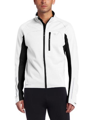 PEARL IZUMI Herren Fahrrad Jacke Elite Softshell, White/Black, L, P11131017 -