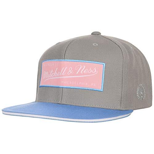 Mitchell & Ness Gorra Flat Flamingo Box& de Beisbol (Talla única - Gris)
