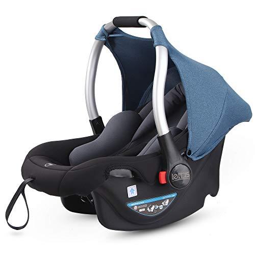 LETTAS Babyschale Baby-Autositz mit Sonnenverdeck Gruppe 0+ Kindersitz (0-13 kg), nutzbar ab der Geburt bis ca. 12 Monate ECE-R 44/04