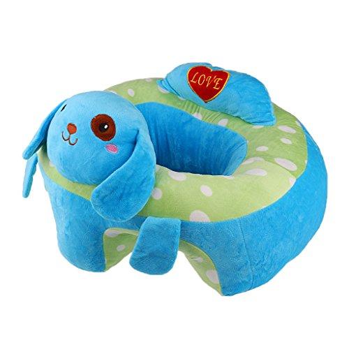 Gazechimp Soutien Siège Canapé Bébé En Peluche Repas Activité Jouet Pleche Animal - Chien Blue