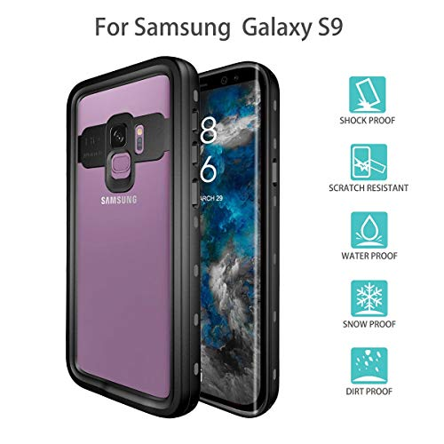 FugouSell Samsung Galaxy S9 Waterproof Case, Waterproof Case Replacement for Samsung Galaxy S9 Snowproof Shockproof DirtProof Protection Back Case Cover Case