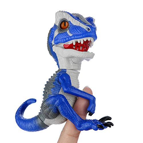 YDZDQ Finger Dinosaur, T-Rex Dinosaur Hand Puppet Toys, Interactive T-Rex Finger Dinosaur, Children's Gift Choose, Collectible Dinosaur Model Toy (T-Rex Blue)