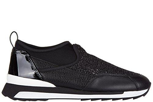 Hogan Rebel slip on donna in pelle sneakers nuove originali r261 nero EU 37.5 HXW2610V410E1K0XCR