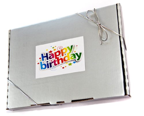 Happy Birthday Retro Sweets Silver Gift Box - fits through the letterbox
