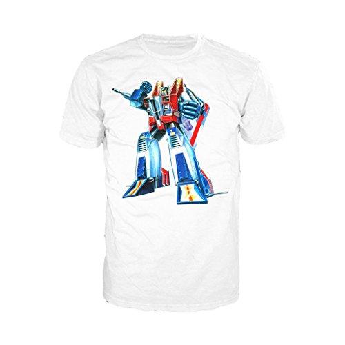 g1 urban Urban Species Transformers Starscream G1 Official Men's T-Shirt (White) (Large)