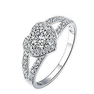 Herz Ring Diamant Hochzeit Ring 7Meter