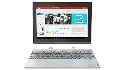 Lenovo Miix 320-10ICR - Tablet de 10.1' FullHD (Procesador Intel Atom x5-Z8350, RAM de 4GB, memoria interna de 128GB de eMMC, Windows 10, WiFi + Bluetooth 4.0) Plateado