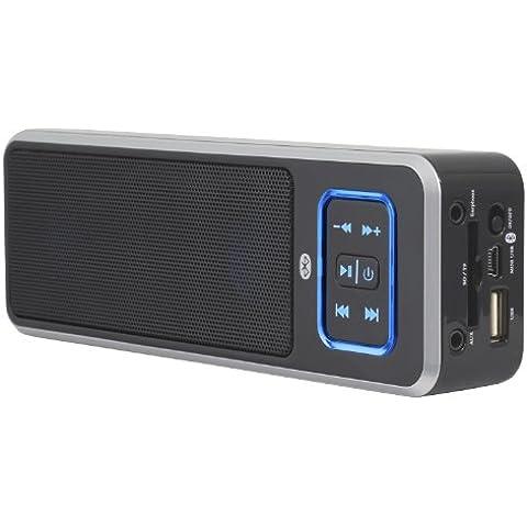Peavey Electronics BTS 2.2 Black - Altavoces portátiles (40 mm, 4 W, 4 Ohmio, Inalámbrico y alámbrico, USB/3.5 mm, A2DP, AVRCP, HFP, HSP) Negro