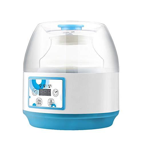 DYR Joghurtbereiter Joghurt Maker Home Automatische Joghurtmaschine Große Kapazität Frucht Enzym Glas Reiswein Maschine 2L (Farbe: Weiß)