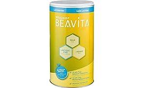 BEAVITA Vitalkost Laktosefrei - Vanille Pulver 500g - Diät Shake für unbeschwertes Abnehmen - reicht für 10 Drinks - Kalorien sparen & Gewicht reduzieren - vitaminreicher Mahlzeitersatz inkl. Diätplan