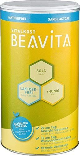 BEAVITA Vitalkost Laktosefrei - Vanille Pulver 500g - Diät-Shake für unbeschwertes Abnehmen - reicht für 10 Shakes/Mahlzeiten - Kalorien sparen & Gewicht reduzieren mit dem 14 Tage-Diätplan inkl.