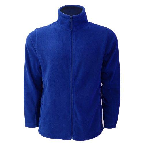 Jerzees Colours Herren Outdoor-Fleecejacke mit Reißverschluss (4XL) (Helles Royalblau) -