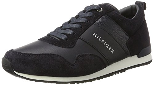 Tommy Hilfiger Herren M2285AXWELL 11C1 Sneaker, Blau (Midnight), 45 EU Faux Suede Sneakers