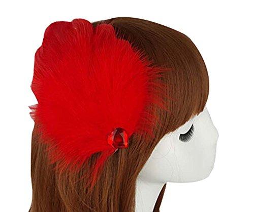 Une Paire de Plumes Cheveux Clip Clip Clip Performances Ornements de Cheveux Mariée Coiffure