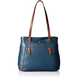 Hidesign Women's Handbag with No (M Blue Tan)