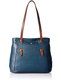 Hidesign Women's Handbag (M Blue Tan)