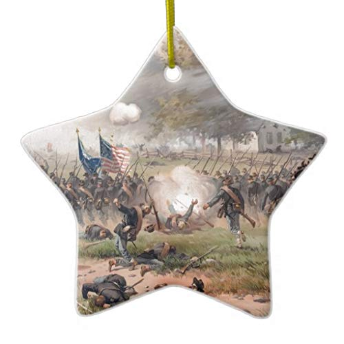 Leoner22art Battle of Antietam Bürgerkriege Kunst doppelseitig Stern Keramik Weihnachten Ornament