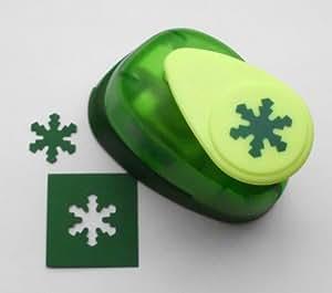"""Artemio-1,6 cm, a forma di fiocco di neve, misura piccola, motivo: """"Number 1-Punzonatrice a leva, per carta, colore: verde"""