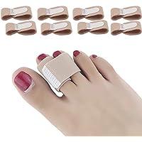 DYKOOK Zehenbandagen, 8 Stück/Packung, Stoff-Zehenschiene, gepolsterte Bandagen, Fingerschutz, Straightener, Hammerzehenspreizer preisvergleich bei billige-tabletten.eu