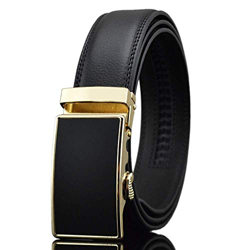 Men Luxury Fashion Leather Business Jeans High-grade Gift Automatic Buckle Belts -