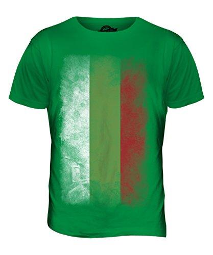 CandyMix Bulgarien Verblichen Flagge Herren T Shirt Grün