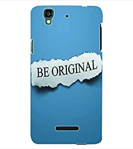 Colourcraft Be Original Back Case Cover For Yu Yureka Plus