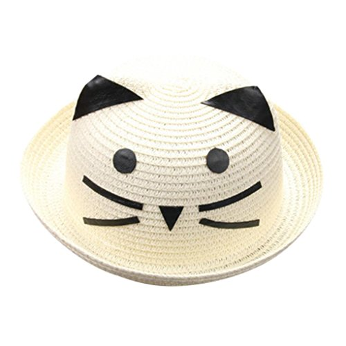 Xshuai Baby Hat Fashion Cute Summer Baby Sun Hat Cap Children Breathable Hat Straw Hat Kids Cartoon Cat Hats Caps