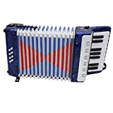 FGHGFCFFGH 1PC 17 Key 8 Bass Small Accordion Educational Musical Instrument for Children