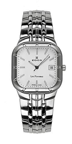 Reloj Edox Les fondras, Mecanismo de Cuarzo con Fecha, 61148–3ain