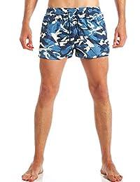 98d98ba79c AK collezioni Costume Uomo Camouflage Blu Mimetico Militare Shorts  Pantaloncino Corto Mare