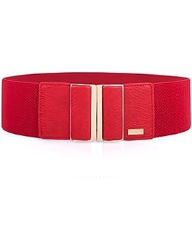 Cinturón ancho elástico para mujer con hebilla de aleación MIJIU Cinturón estiramiento