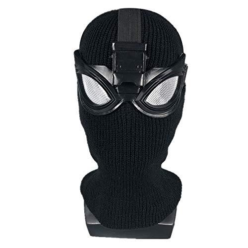 ASJUNQ Spiderman Maske Venom Erwachsener Helm Halloween Mottoparty Lycra Cosplay Karneva Herren Held Vollen Kopf Deluxe Replik,Nolight-OneSize