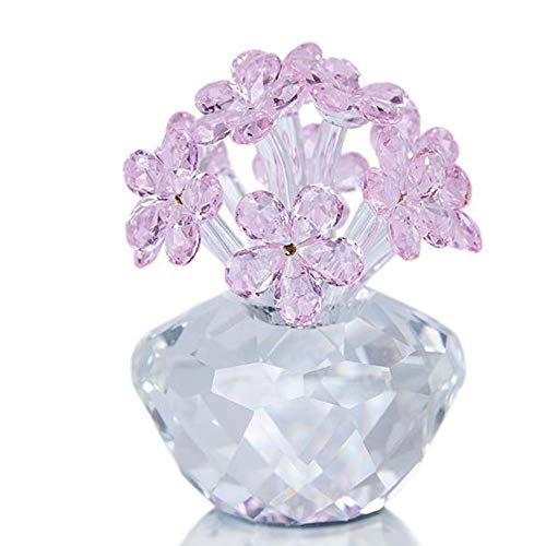 FJCY Forget-Me-Not Flowes Figurita Regalo de colección Craft Crystal