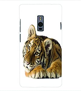 ColourCraft Tiger Back Case Cover for ONEPLUS TWO