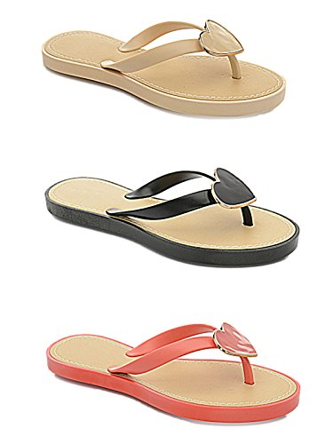 Foster Footwear ,  Mädchen Damen Durchgängies Plateau Sandalen Nude