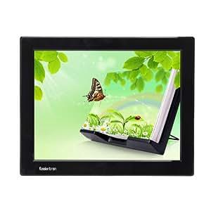 """Koolertron - 12.1"""" Grand Cadre photo numérique Digital Image Frame LCD écran large (4:3) résolution 1024*768 – Lecteur SD / MMC / MS Vidéo MPEG1/MPEG2 Musique MP4 MP3 – Fonction télécommande et haut-parleur intégré 3,5mm.jack pour casque – Noir"""