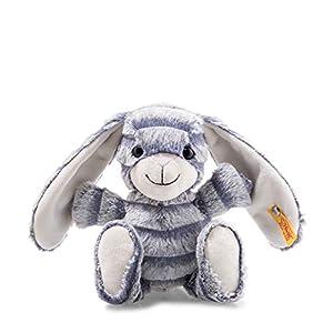 Steiff 80296 - Conejo de Peluche (23 cm), Color Gris y Azul