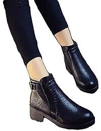 Mujeres Zapatos Planos Zapatos De Tacón Alto Botín De Chelsea ( Color : Black , Size : 37 )