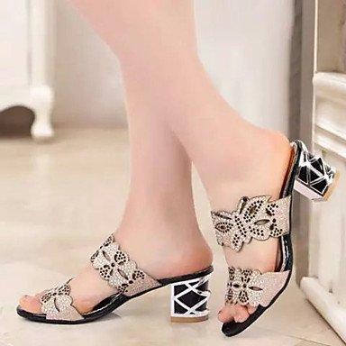 RTRY Donna Sandali Comfort Estivo Pu Dress Chunky Heel Applique Nero / Blu / Blu Royal Altri US6.5-7 / EU37 / UK4.5-5 / CN37